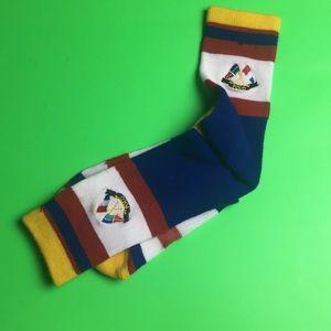 Polo Ralph Lauren Colorblocked Flag Logo Socks
